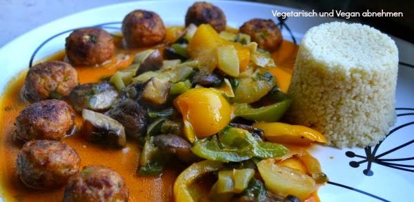 vegetarisch und vegan abnehmen rotes thai curry mit pak choi gem se couscous und. Black Bedroom Furniture Sets. Home Design Ideas