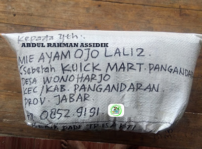 Benih padi yang dibeli   ABDUL RA. Pangandaran, Jabar.  (Setelah packing karung).