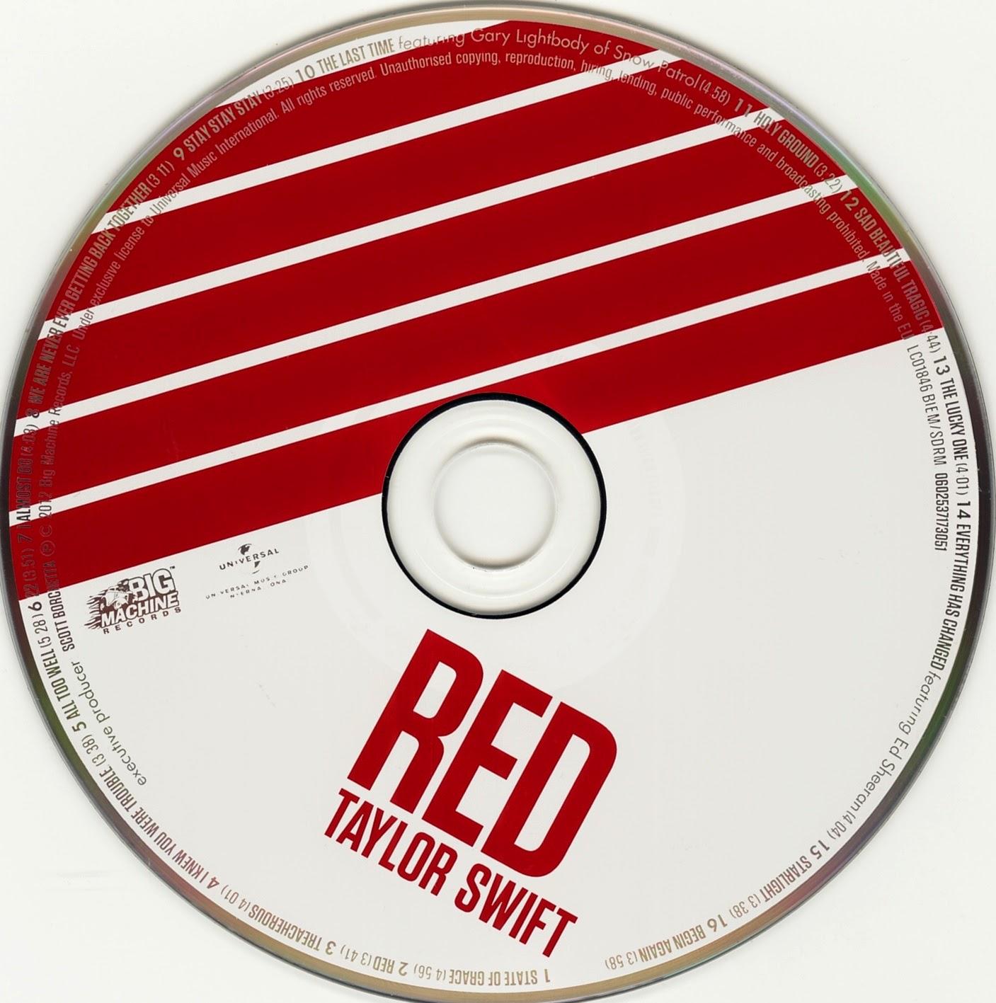 Digipak Research - Taylor Swift 'Red'   Joei's Music Video ...