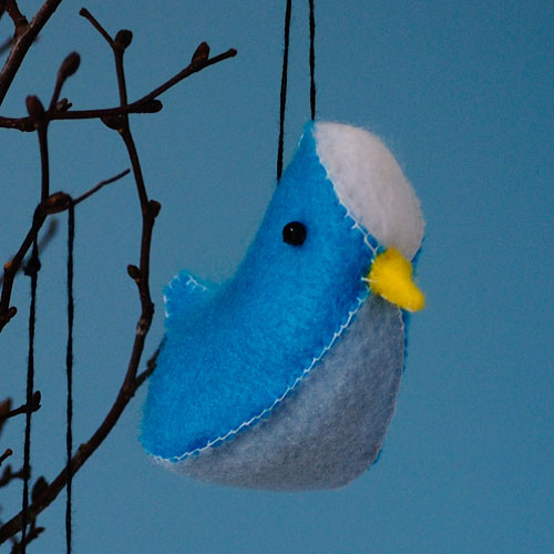 felt birds free pattern
