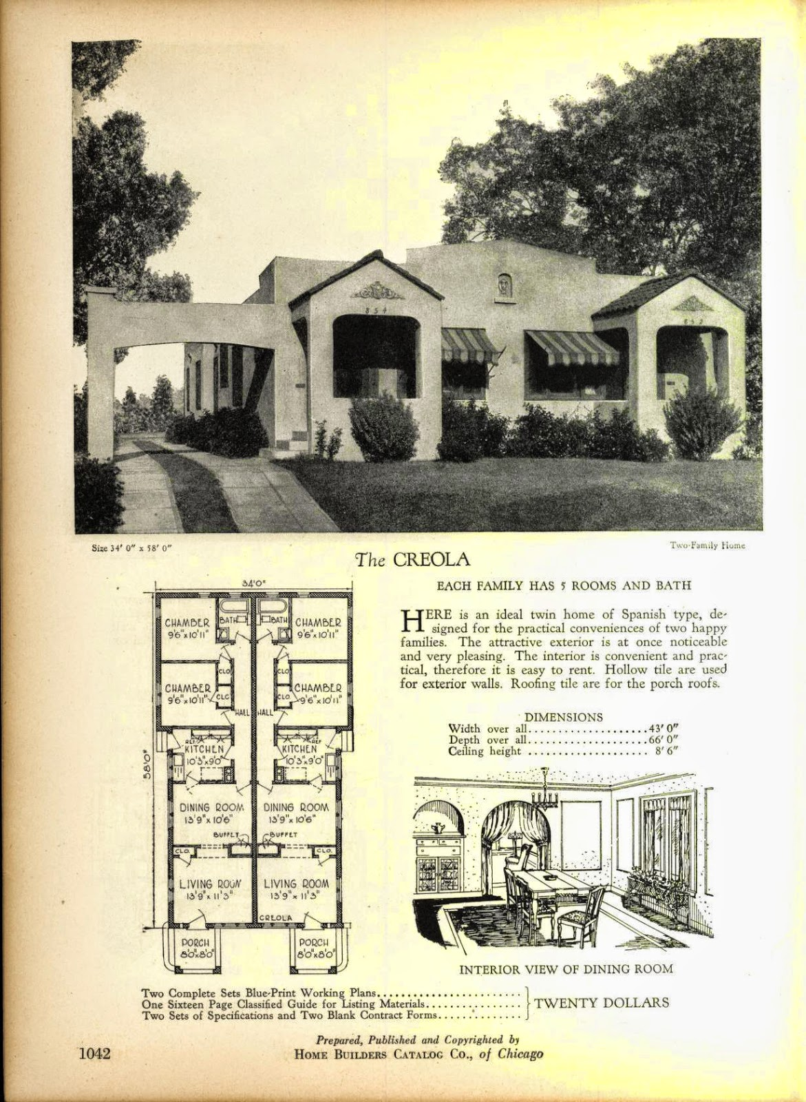 More Art Deco House Plans