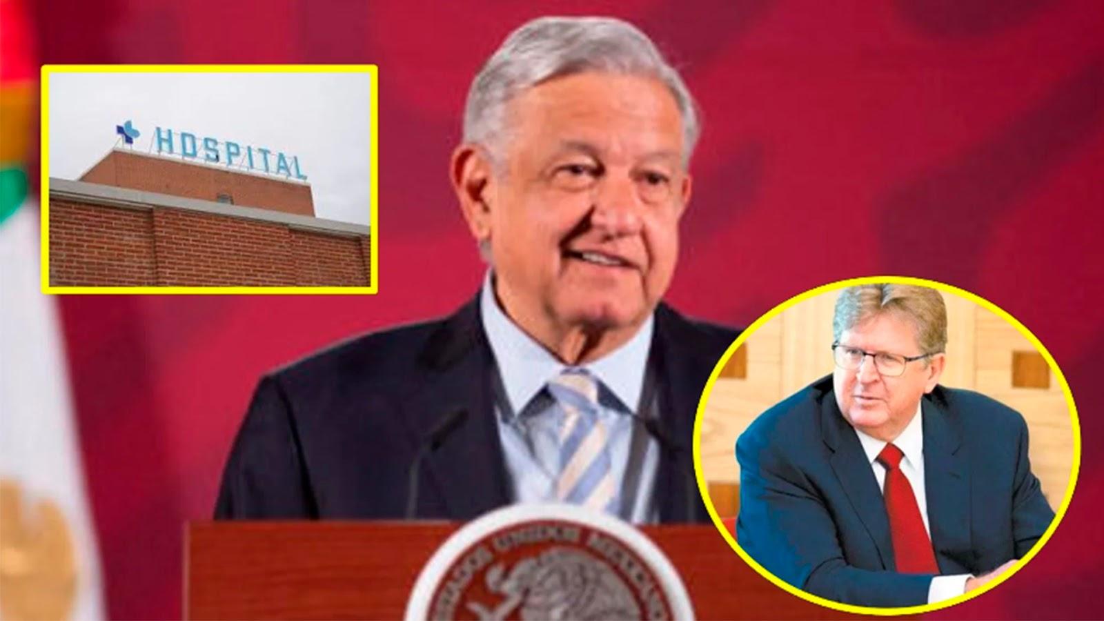 AMLO agradece a Germán Larrea la donación de un hospital para enfermos de Covid-19