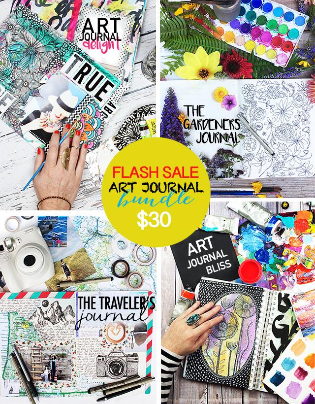 FLASH SALE! art journal bundle!