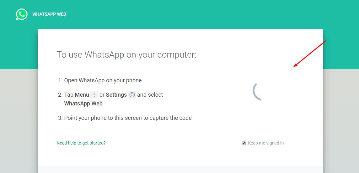 Cara Mengatasi Loading Pada Barcode WhatsApp Web