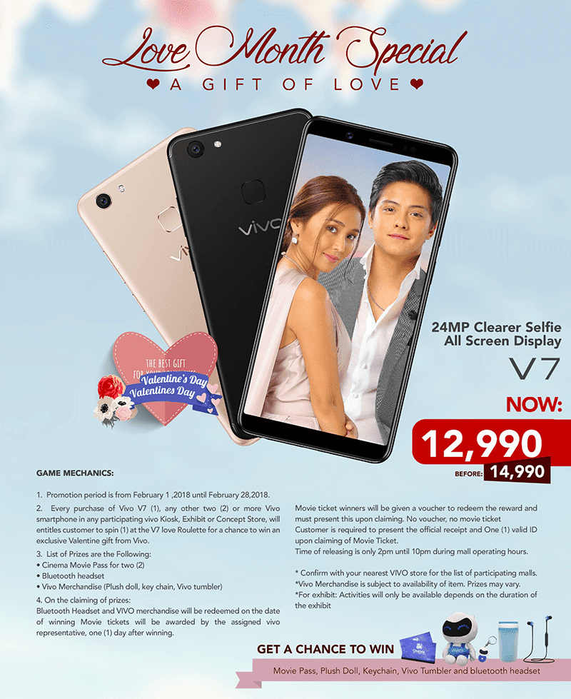Vivo V7 is down to PHP 12,990 for Vivo's Love Month Special