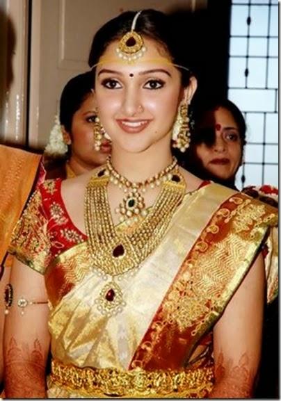 SOUTH INDIAN ACTRESS SILK SAREE SANDAL