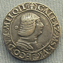 The Testone coin, bearing the image of Galeazzo Maria Sforza on the reverse