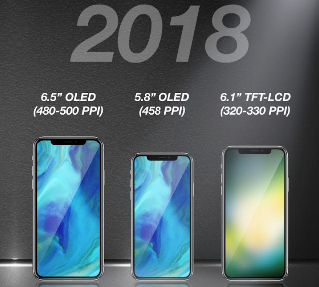 تسريبات مواصفات ايفون الجديد 2018  ثلاث هواتف