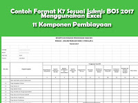Contoh Format K7 Sesuai Juknis BOS 2017 Menggunakan Excel