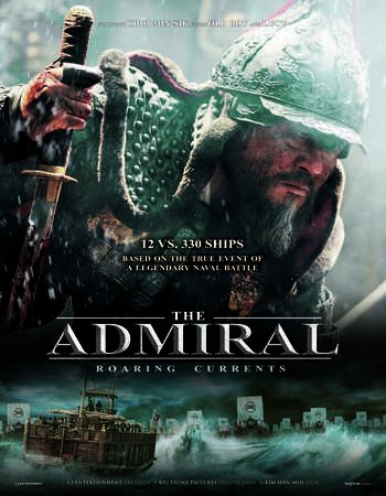 Poster Of The Admiral - Roaring Currents 2014 Dual Audio 720p UNCUT BRRip [Hindi - English] ESubs Free Download Watch Online downloadhub.in