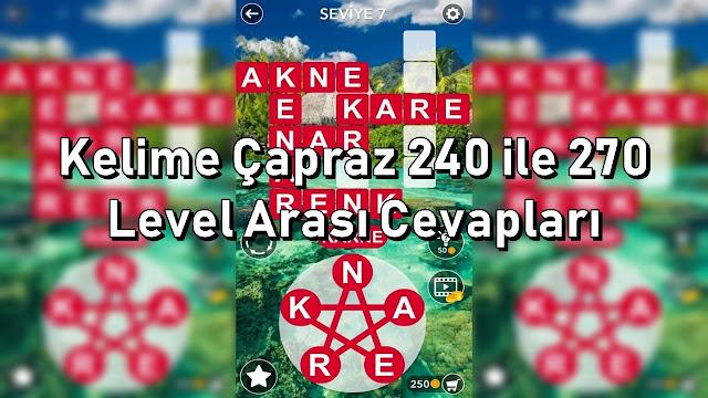 Kelime Capraz 240 ile 270 Level Arasi Cevaplari