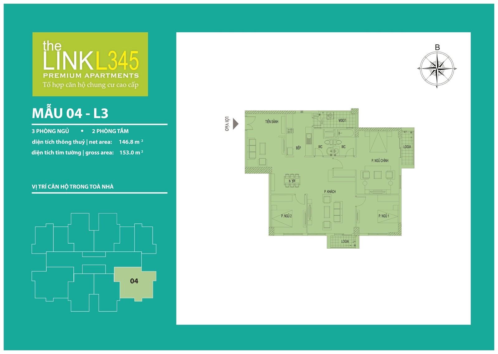 Mặt bằng chi tiết căn hộ 04 - L3 The Link