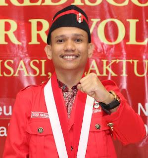 Ketua Bidang Kajian Perundang-Undangan dan Advokasi Kebijakan DPP GMNI Riski Ananda.
