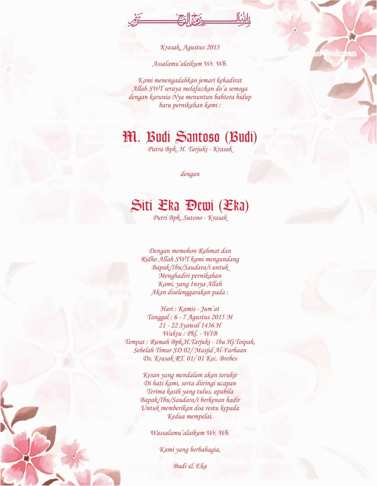 Download Gratis Desain Undangan Pernikahan Minimalis Brilliantpast