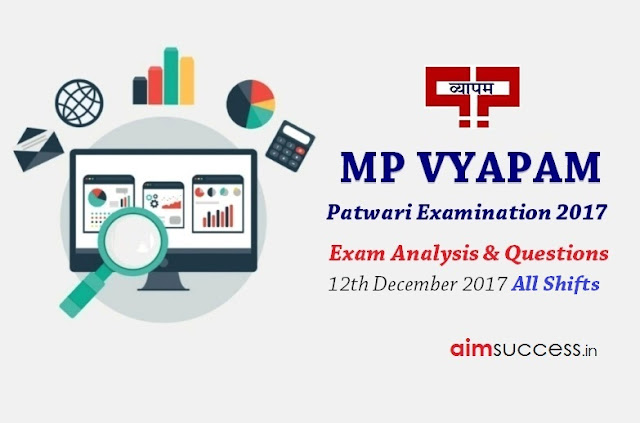 MP Patwari Exam Analysis 2017 - 12th Dec 2017