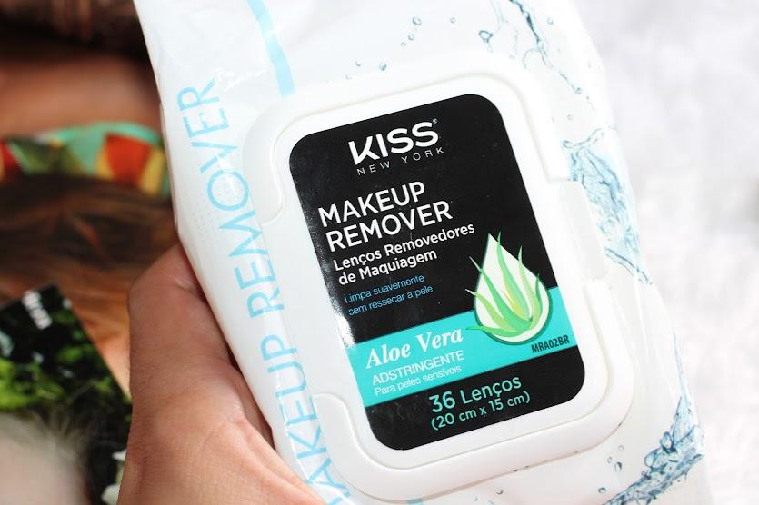 LENÇOS REMOVEDORES DE MAQUIAGEM KISS NEW YORK ALOE VERA