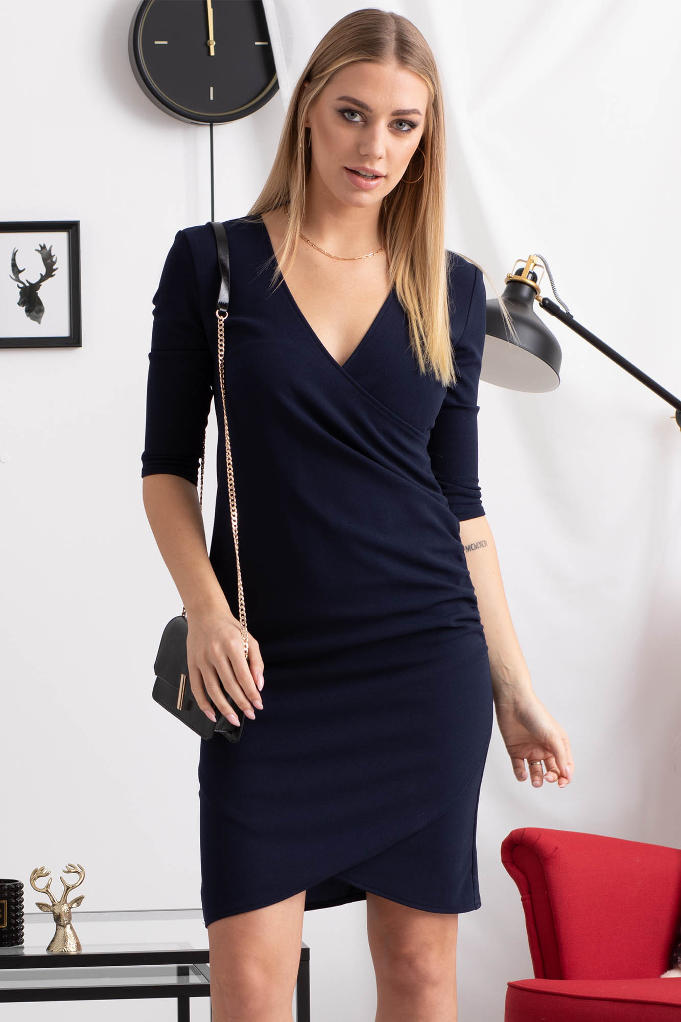 Sukienka kopertowa ołówkowa ALANA  Grandio.pl