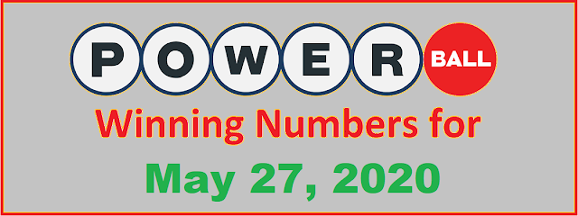 PowerBall Winning Numbers for Wednesday, May 27, 2020