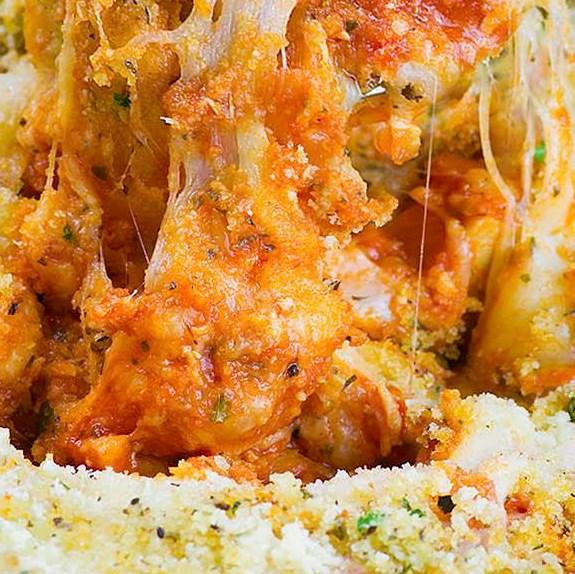 Chicken Parmesan Casserole #healthydinner #glutenfree