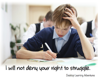 Creating a Positive Classroom Culture: I will not deny your right to struggle.