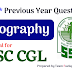 SSC CGL/CHSL- 100 Previous year Geography Questions PDF Download