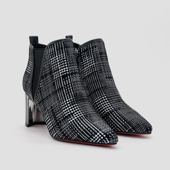 Giày boot nữ Aokang Xám đậm