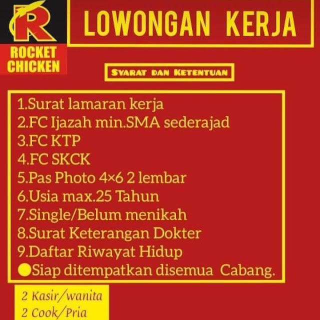 Lowongan Kerja Kasir Dan Koki Rocket Chicken Rembang