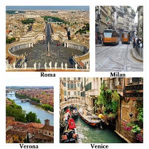 Roma, Milan, Verona, Venice