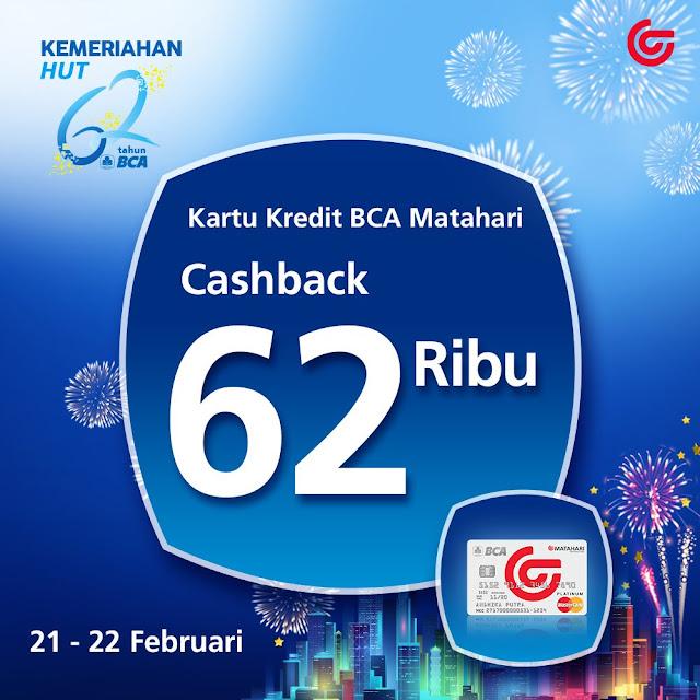 #Matahari - #Promo Cashback 62 Ribu Pakai Kartu BCA Matahari (s.d 22 Feb 2019)