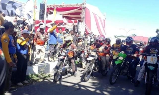 Bupati Mukomuko Lepas Ratusan Rider JAM#4 Rangkaian HUT Ke 17
