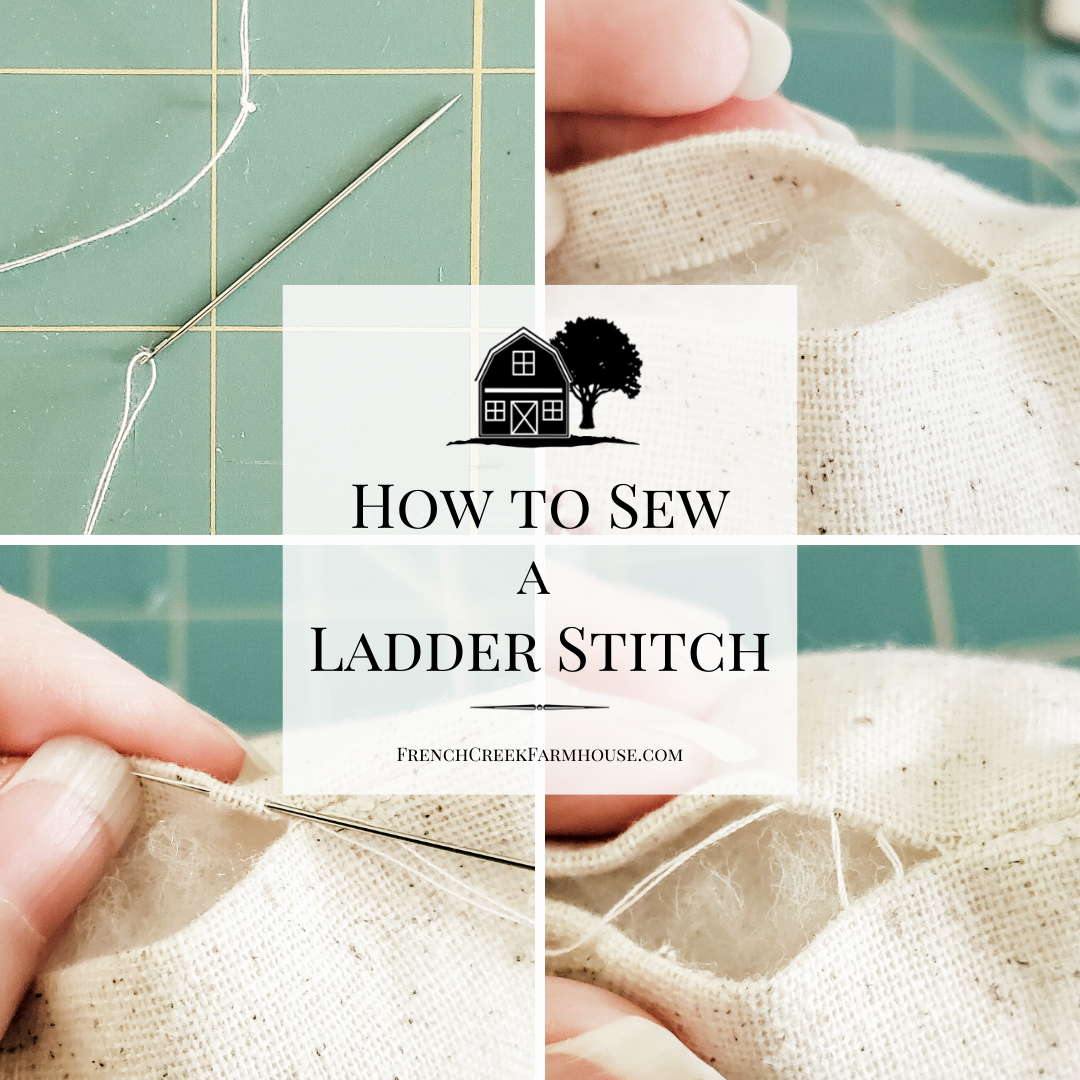 The ladder stitch is a simple hand-sewing technique to close up a seam invisibly