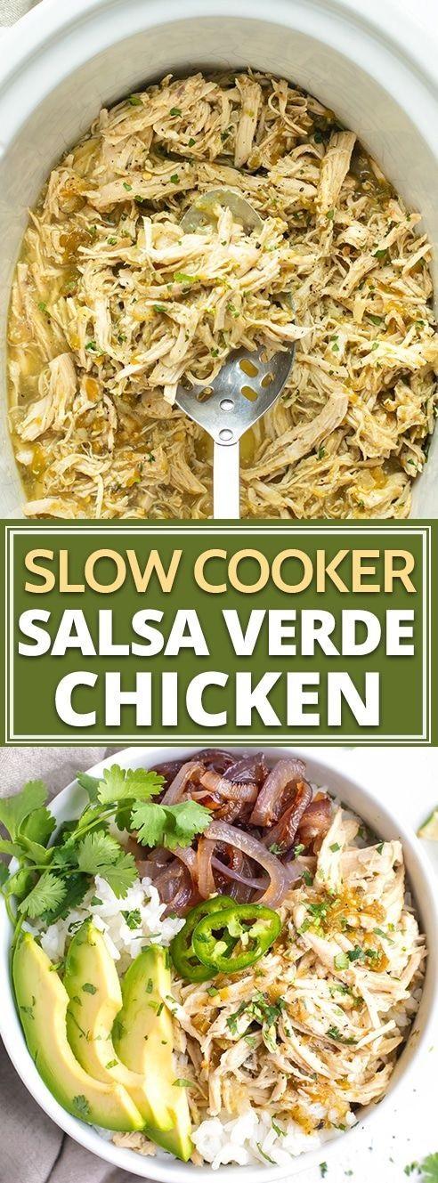Slow Cooker Shredded Chicken Burrito Bowl