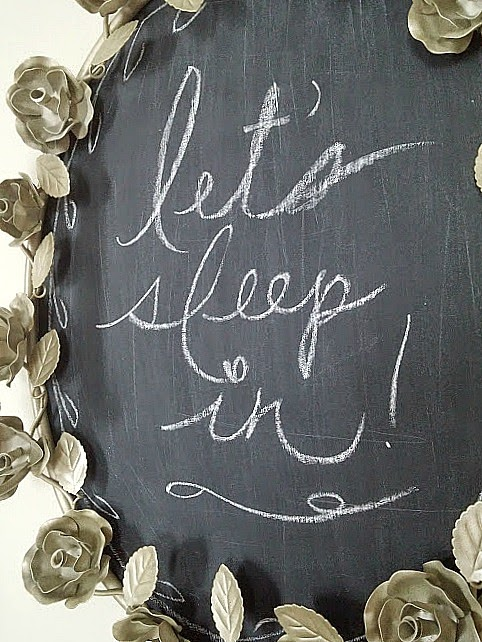 Let's Sleep In DIY chalkboard