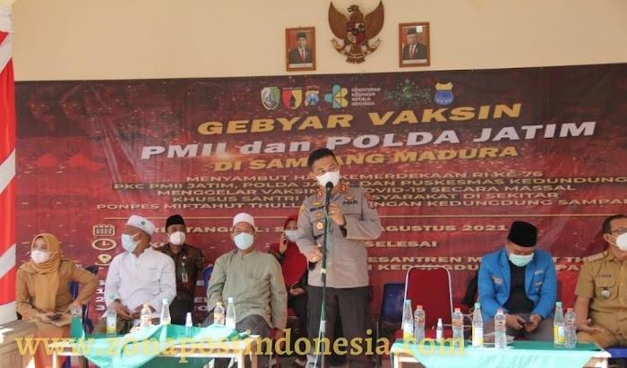 Gebyar Vaksinasi PMII Dan Polda Jatim Di Kabupaten Sampang Targetkan 1500 Vaksin Covid-19