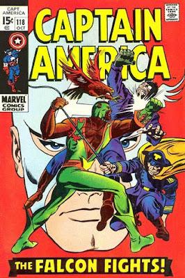 Captain America #118, the Falcon