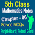 5th Class Mathematic Chapter 6 MCQs Notes