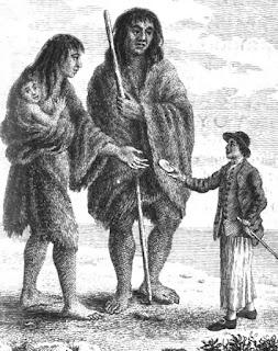 Encuentro de europeos con los gigantes de la Patagonia
