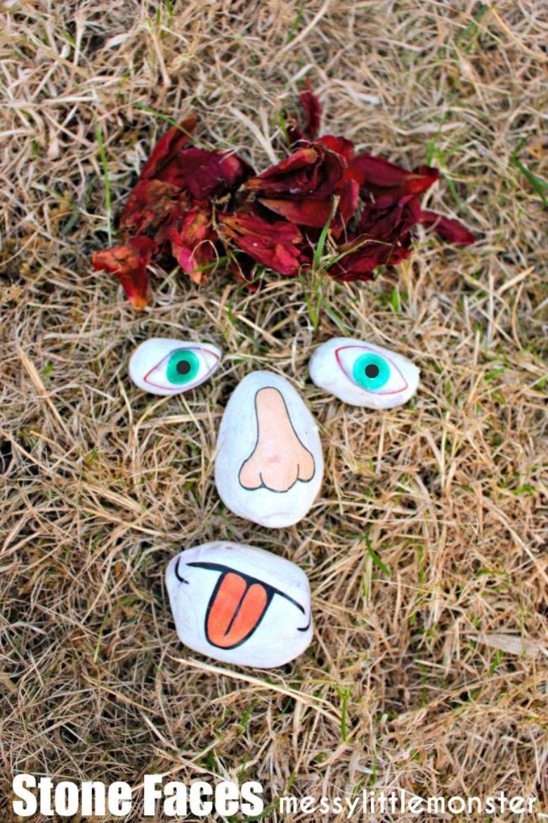 face rock painting ideas
