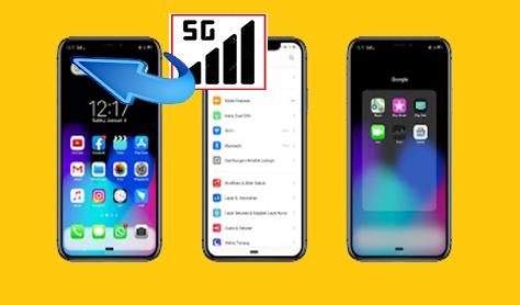 Tema Oppo | Realme: iOS/ iPhone Signal 5G Tembus Aplikasi