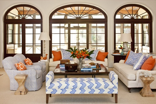Eye for design decorating with the blue orange color - Orange and blue decor ...