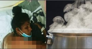 Hombre rocía agua hirviendo a mujer en Guayacanal, Azua.