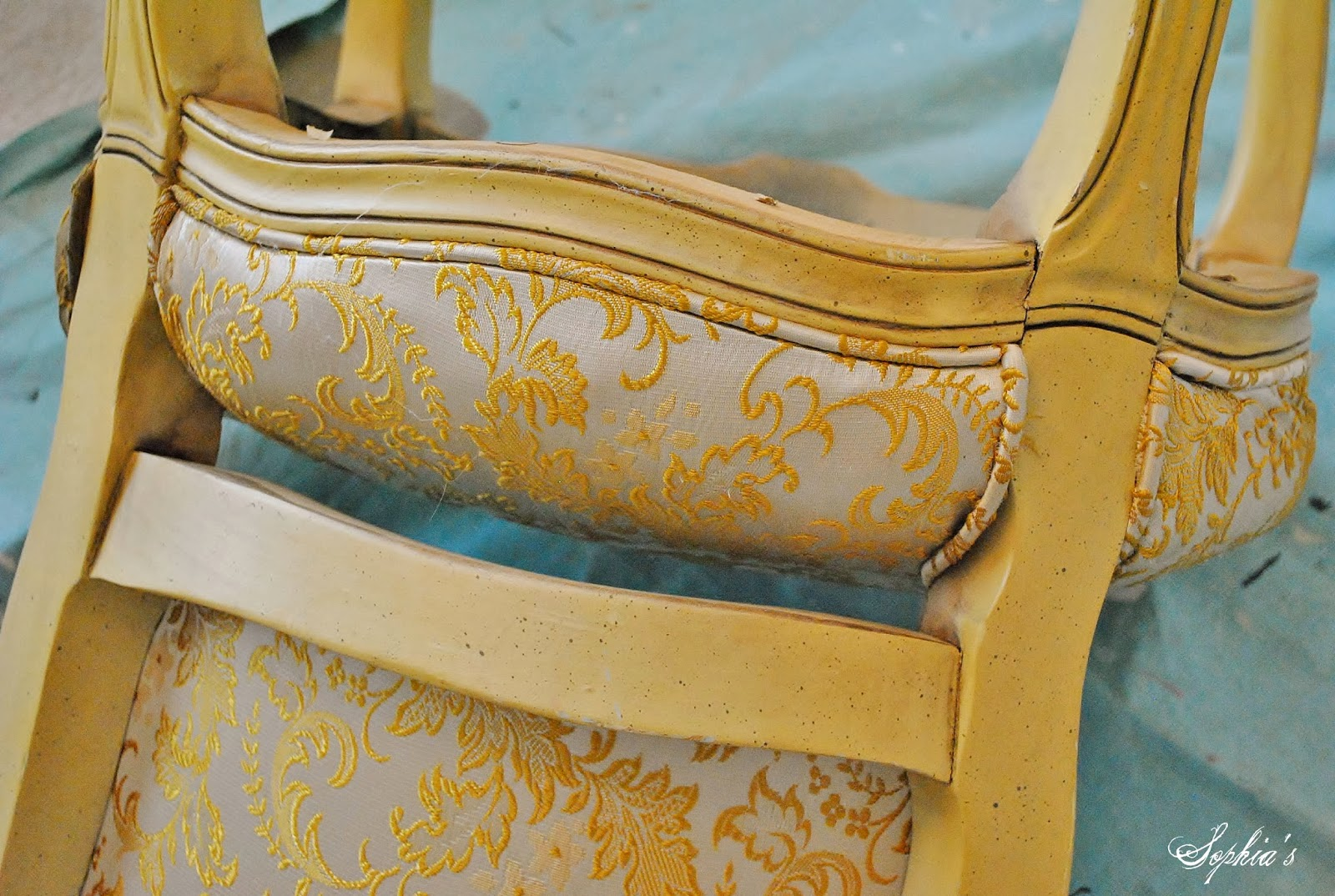 Chair Rail Upside Down Long Lounge For Living Room Sophia 39s French Reupholstery Makeover And Tutorial