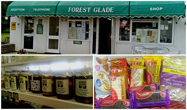 A collage featuring aspects of the shop at Forest Glade