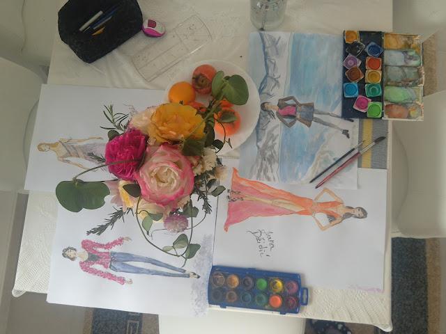 #fashionblog #artblog #flowers #flatlay