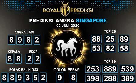 Royal Prediksi Togel Singapura Kamis 02 Juli 2020