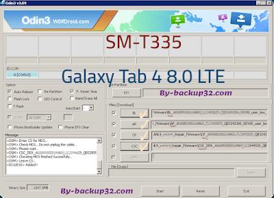 سوفت وير هاتف Galaxy Tab 4 8.0 LTE موديل SM-T335 روم الاصلاح 4 ملفات تحميل مباشر