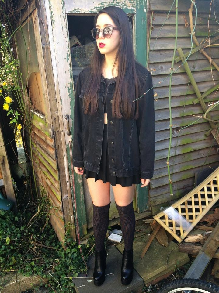 OOTD, black, fashion, clothes, look, OOTN