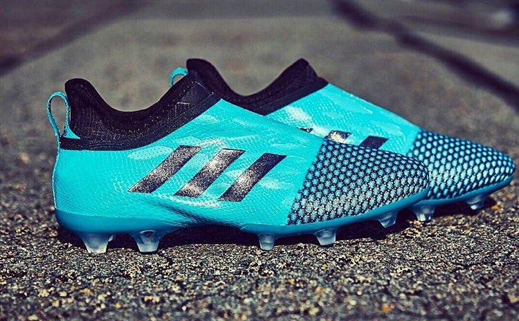 online store ce7da e472b Aqua Blue Adidas Glitch Fluido Agilityknit Skin Released - Leaked Soccer  Cleats