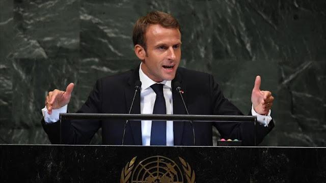 Macron se planta en la ONU ante el unilateralismo de EEUU