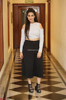 Manjusha in sleevelss crop top and black skirt at Darshakudu pre release ~  Exclusive Celebrities Galleries 088.JPG